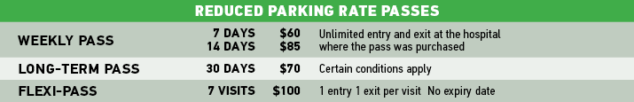 Reduced Parking Rates Passes