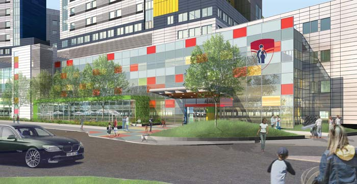 artist rendering of the Montreal Children's Hospital