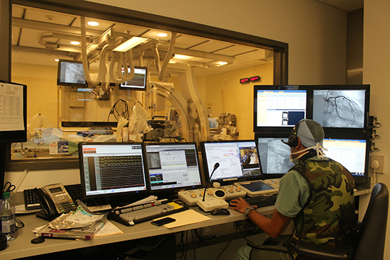 The MUHC Cath Lab, where life-saving cardiac procedures are carried out 24 hours a day, seven days a week.