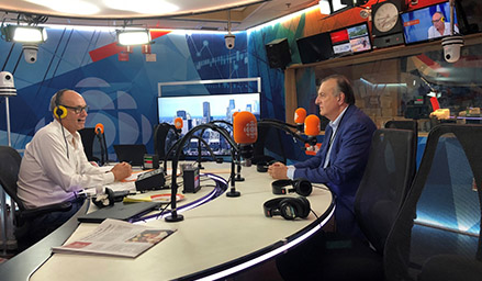 Dr. Pierre Gfeller invited to Radio-Canada's Gravel, le matin