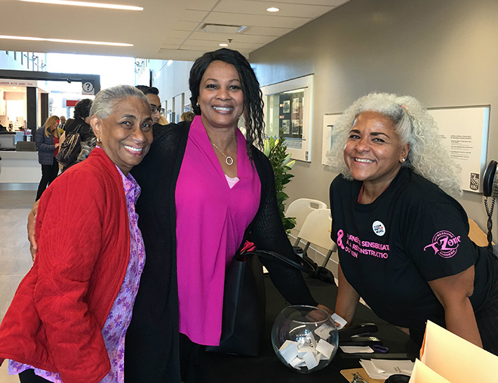 Deneise Ottley, her mother and Angela Alston, co-organizer of the event