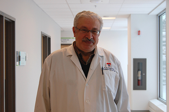 Dr. George Shenouda, radio-oncologist at the MUHC and lead author of the study