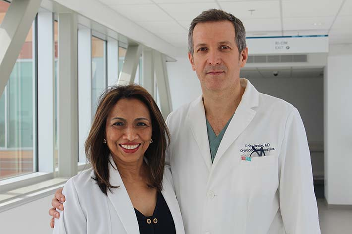 From L to R.: Dr. Lucy Gilbert, Director of the Women's Health Research Unit at the Research Institute of the MUHC, and her colleague Dr. Kris Jardon, gyneco-oncologist and RI-MUHC researcher; are co-authors of the study published in Science Translational Medicine