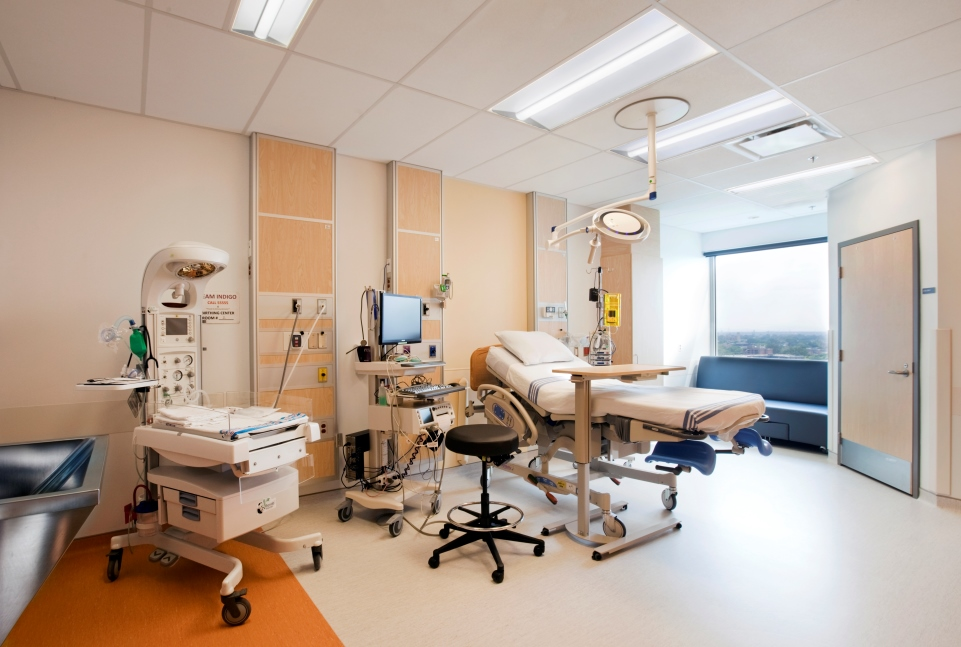 One of the single-patient rooms at the MUHC's Glen site