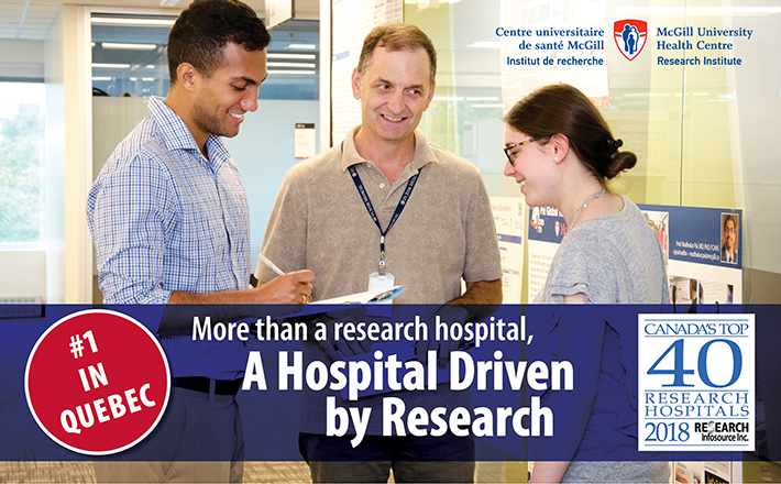 MUHC ranks high on the list of Canada's Top 40 Research Hospitals once again!