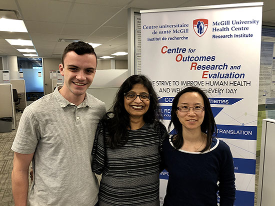 Michael Wright, patient co-author; Dr. Kaberi Dasgupta, clinician-scientist in the Metabolic Disorders and Complications Program at Research Institute of the McGill University Health Centre (RI-MUHC); Debbie Chan, Research Assistant, RI-MUHC