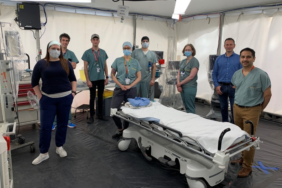 Stephanie Di Nunzio, Assistant a nurse manager - Dr. Mathieu Toulouse, Trauma Fellow - Adam Burcheri, Unit coordinator Rachel Nadeau, Nurse - Simon Cloutier-Gagné, Nurse - Jeanesse Bourgeois, Assistant nurse manager Jacques Avital, Project manager - Dr. Kosar Khwaja, Trauma surgeon and critical care physician