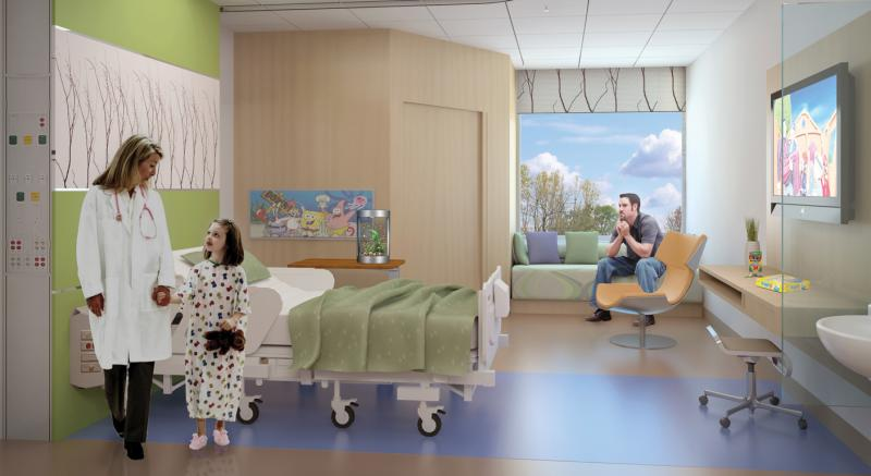 The ideal patient room mcgill university health centre for La chambre 13 hopital